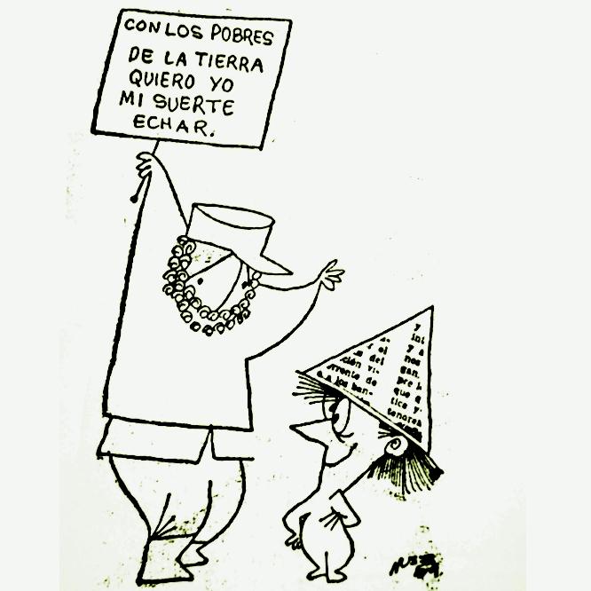 con los pobres Fidel Castro