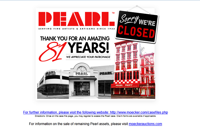 pearl paint closed